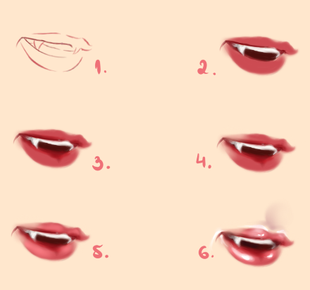 how to draw anime female mouth