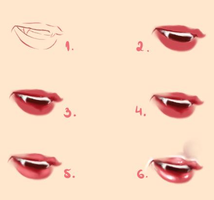 Vampire Lips - Tutorial by Kipichuu
