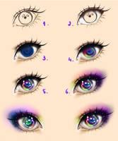 Galaxy Eyes - Tutorial by Kipichuu