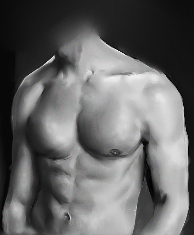 Male Body Study by Kipichuu