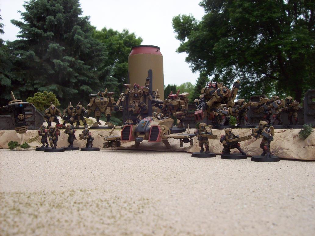 Tau Empire Army by Crowdingfever