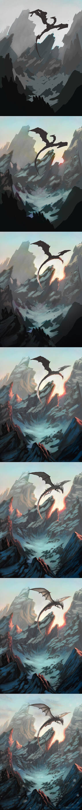Steps: Dragon and Mountains