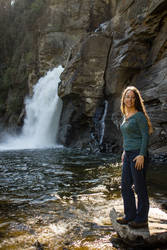 Kathryn at Linville Falls by captainslack