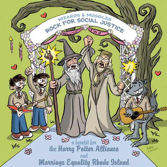 Dumbledore Gandalf gay wedding by yaytime