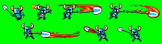 Shovel Knight's Armor of Chaos attack progress