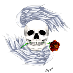 Winged Skull logo