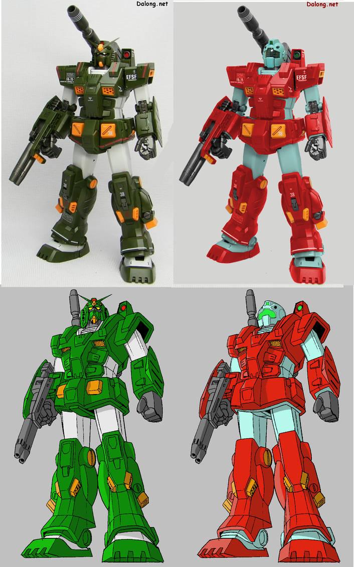 RGM-79FA Full-Armor GM by megamike75