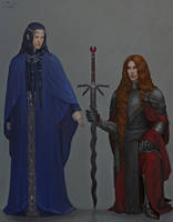 Tindomion and Gil-galad by Insant