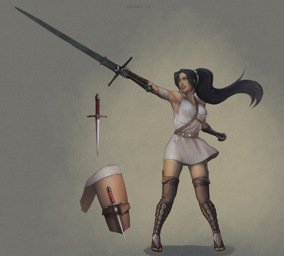 Дарра – девушка с мечом