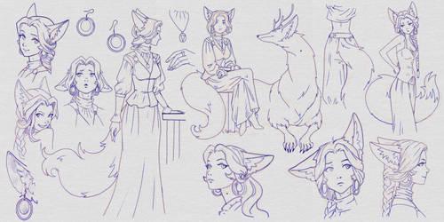 just kitsune-girl sketches