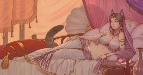 the goddess is resting
