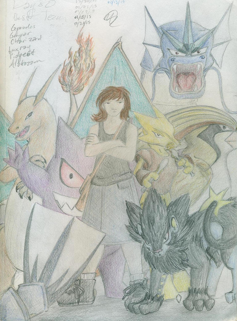 Pokemon Drawing Challenge - Thirty - Own Team by CaseMayday