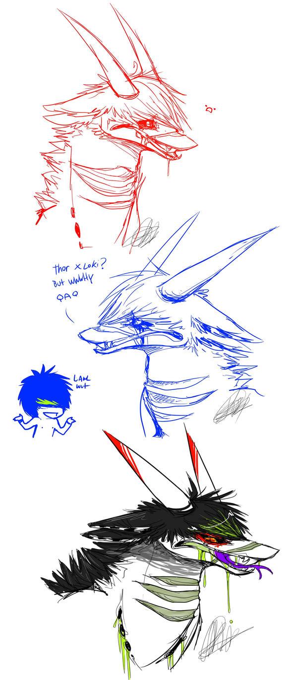 Damekly doodles by Shark-Bites