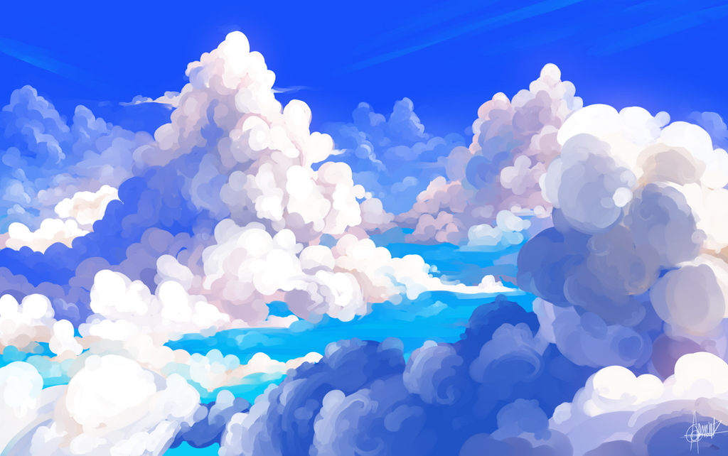 clouds by Shark-Bites