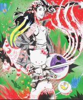 OctoKitty Samurai Funk by JimMahfood-FoodOne