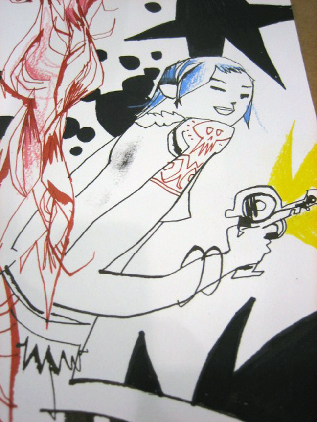 Blue Raygun Girl Fun by JimMahfood-FoodOne