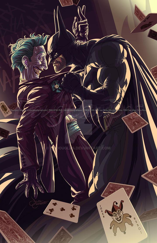 The Batman and The Joker by el-douglas