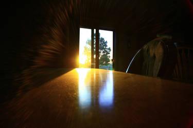 Sun Rise through the Window by rathel