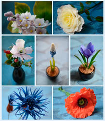 Clay flowers by dallia-art