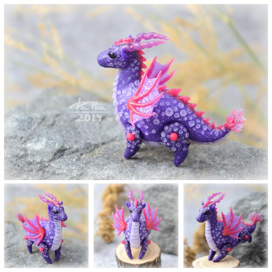 Mini Dragon - Purple (SOLD) by dallia-art