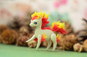 Miniature pokemon Ponyta by dallia-art