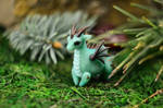 Ball-jointed dragon - light turquoise