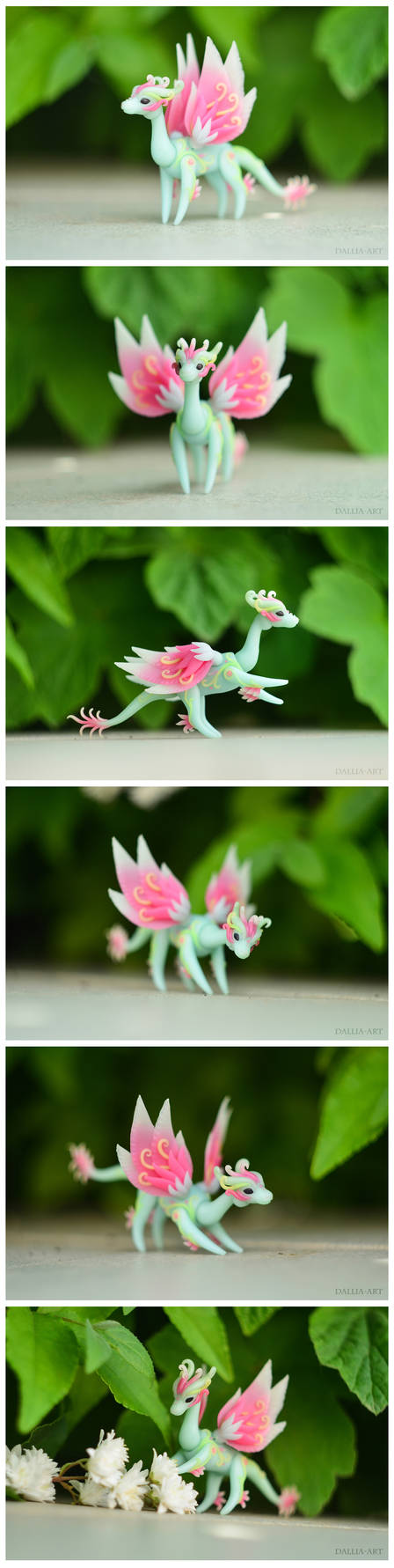 Handmade ball-jointed fairy dragon