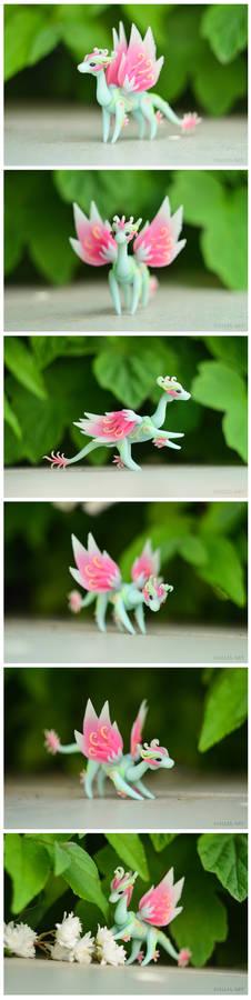 Handmade ball-jointed fairy dragon