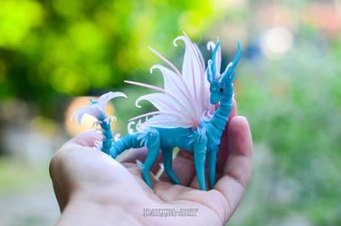 BJD Turquoise Fairy Dragon by dallia-art