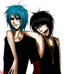 Murdoc and 2D
