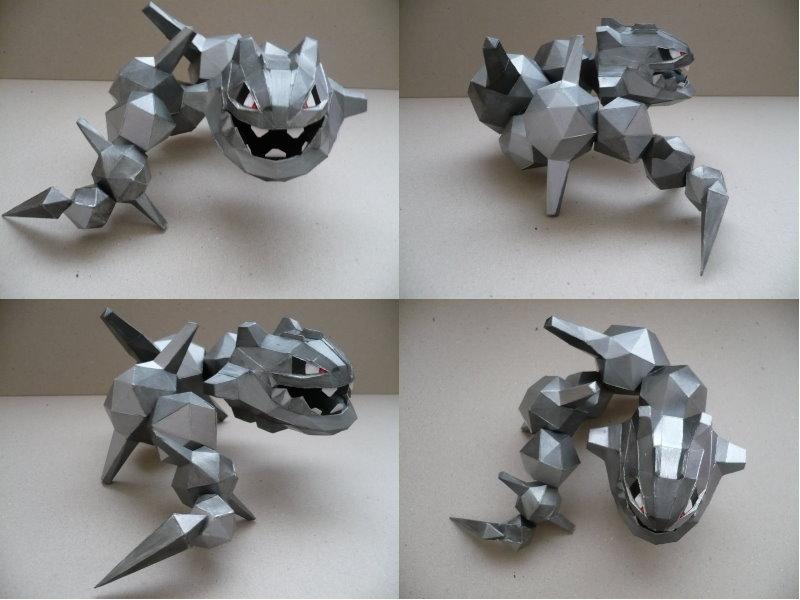 Pokemon- Steelix Papercraft by savaskul