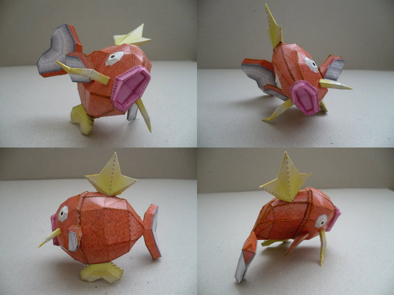 Pokemon- Madikarp Papercraft by savaskul