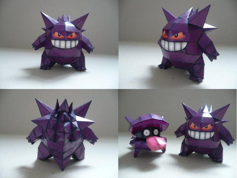 Pokemon-Gengar Papercraft by savaskul