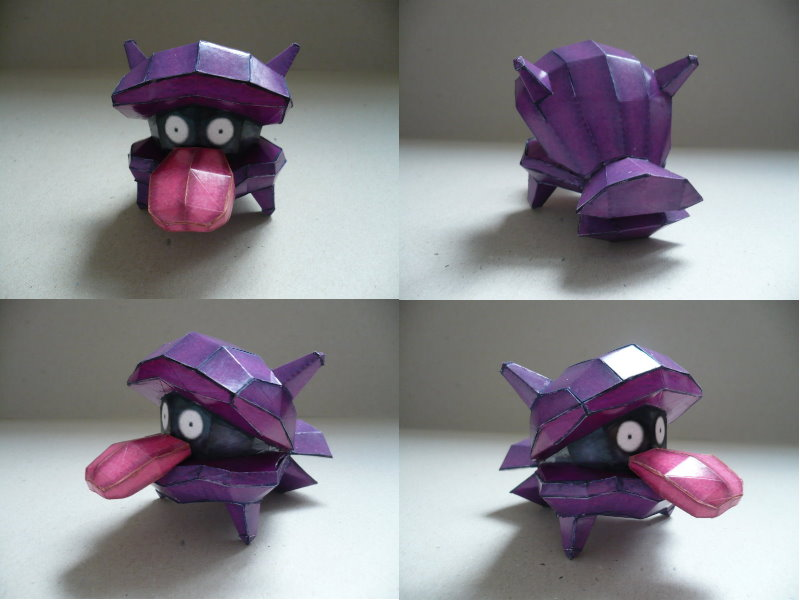 Pokemon-Shellder Papercraft by savaskul