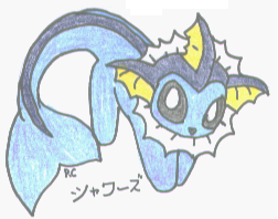 No.134 Vaporeon or Showers by AuraLight