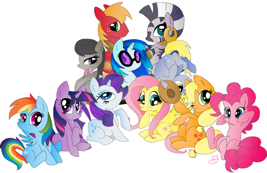MLP Group by LunarDawn
