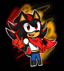 P!Shadow (Sonic Undertale crossover) by OksyPine