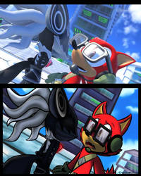 Sonic Forces screenshot redraw by OksyPine