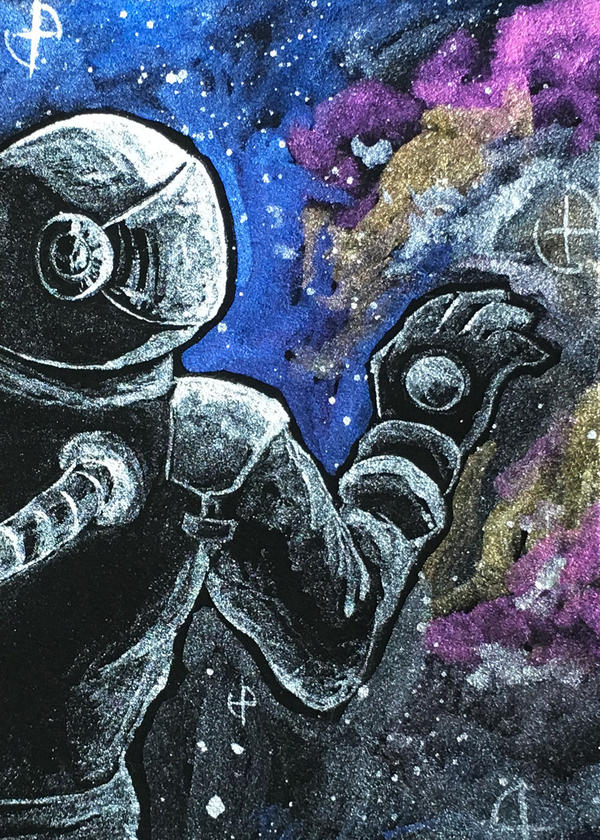 [Aceo] outer space by Lymsl
