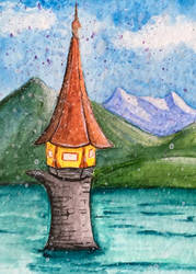 [Aceo] Magic tower by Lymsl