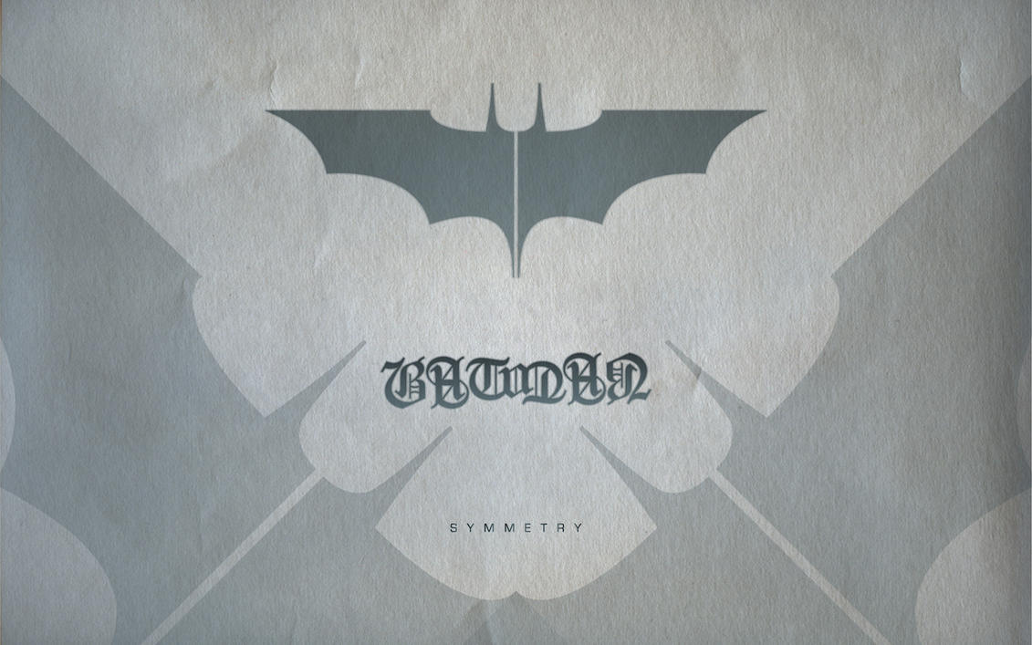 Batman Ambigram Wallpaper by michealoduibhir