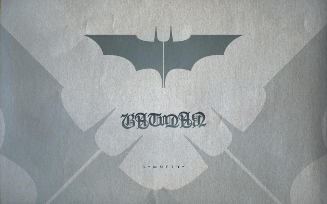 Batman Ambigram Wallpaper by michealoduibhir