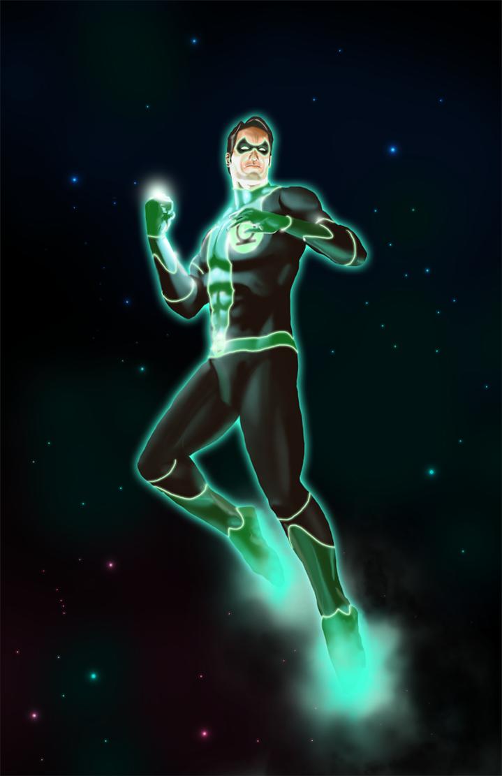 Green Lantern Redesign by michealoduibhir