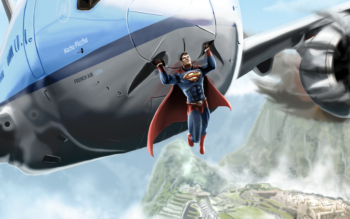 Superman Saves A Plane