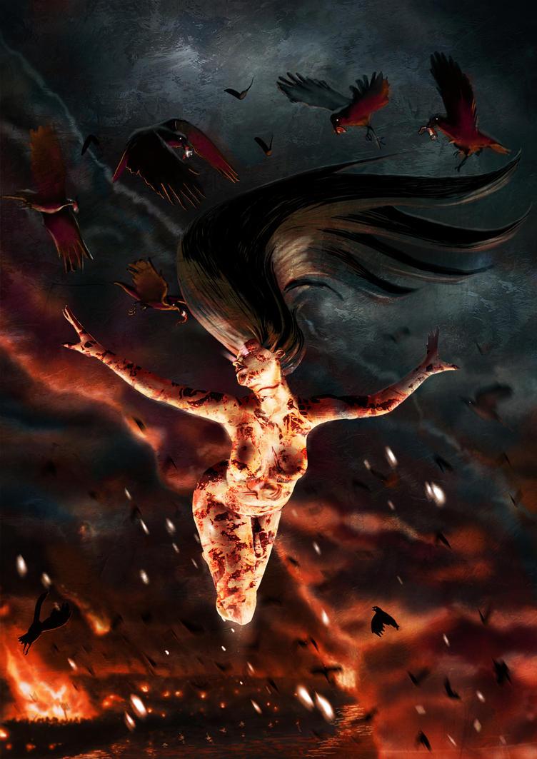 The Birth of the Morrigan, Irish War Goddess by michealoduibhir