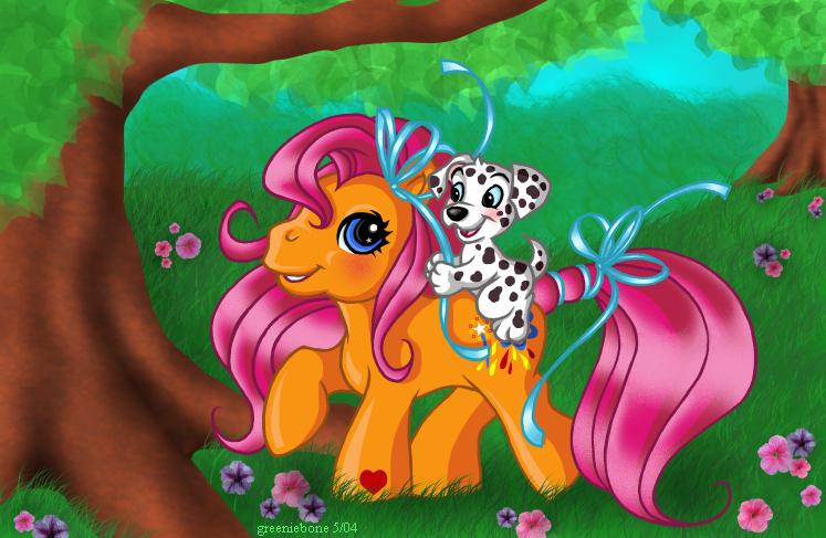 Commission: Sparkleworks n Pup by greeniebone