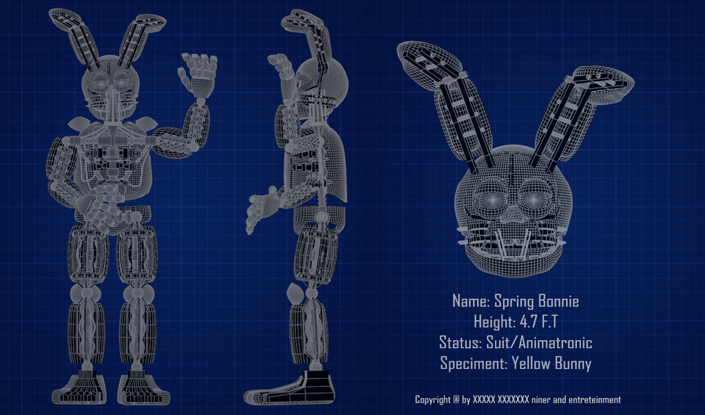 Spring Bonnie Blueprint by luizcrafted