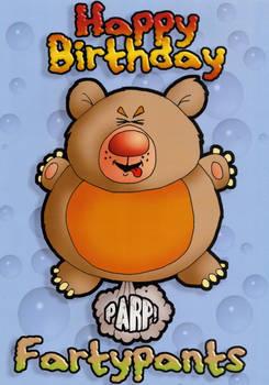 Farty birthday card
