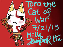PSASBR Character Mix-Up - Toro the Cat of War by minajruby101