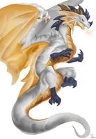 WhiteGold Dragon by xezeno